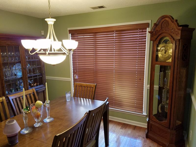 Real Wood Window Treatments Installed in Charlotte, NC