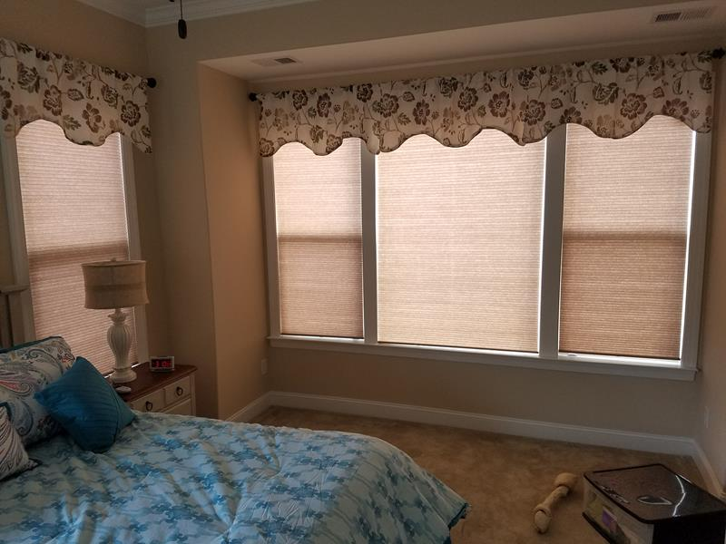 Honeycomb Blinds installation in Denver, NC