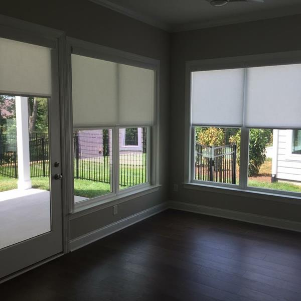 Entire House of Cordless Roller Shades in Denver, NC