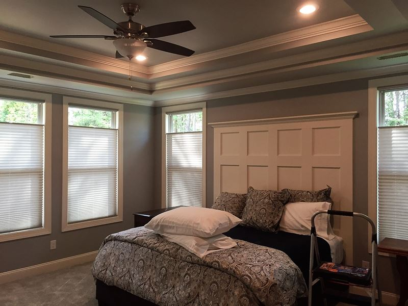 Graber Pleated Shades, Top Down Bottom Up, Cordless on Bells Crossing, Mooresville, NC