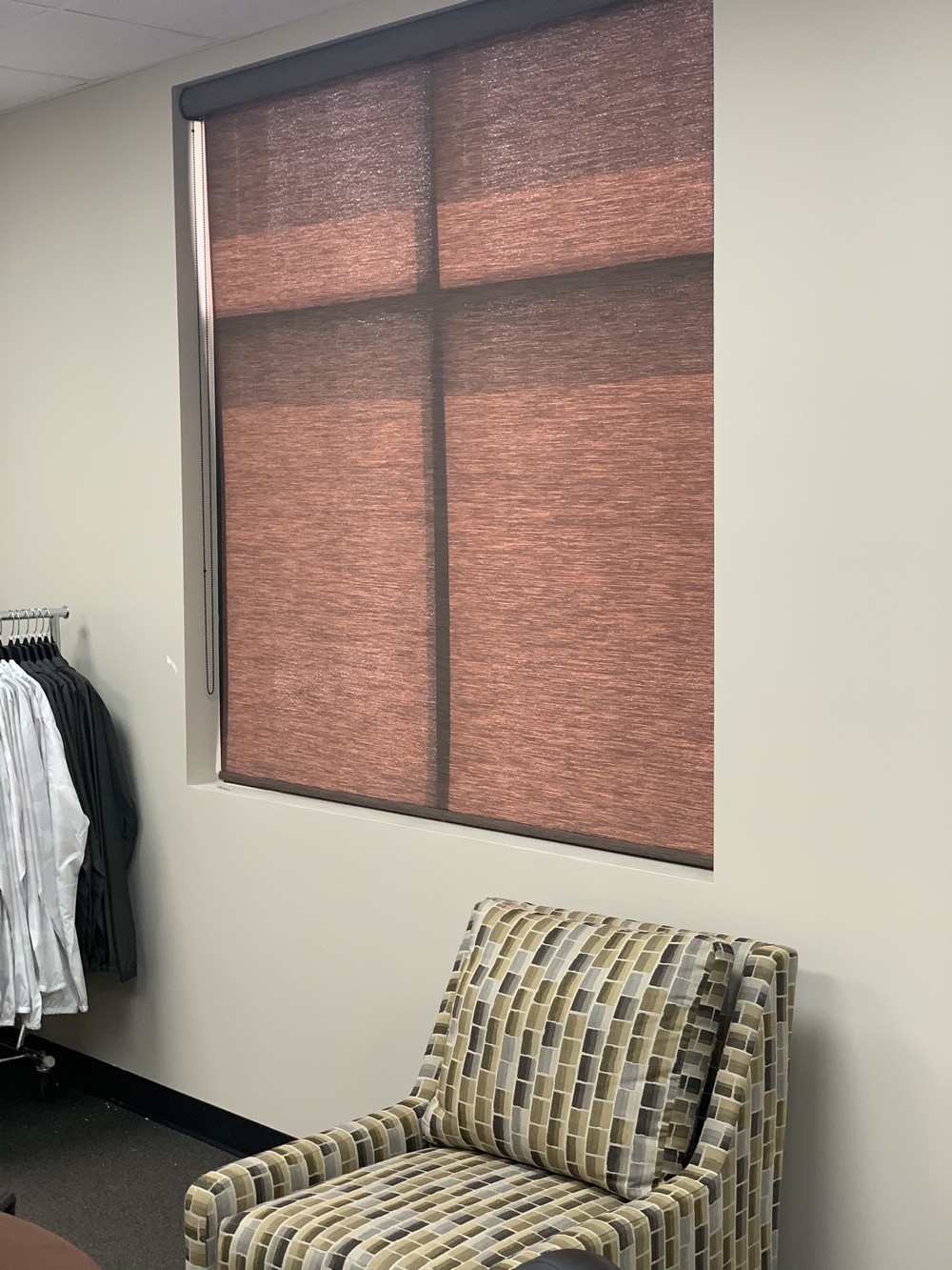Roller Shades at Kyle Busch Rowdy Energy Drinks Corp Office on Cayuga Dr in Mooresville NC
