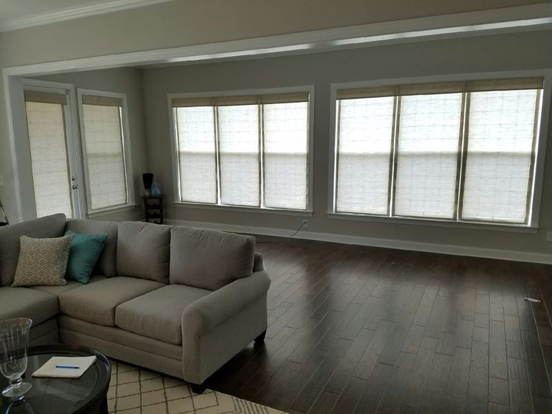 Horizon Roman Shades Installed on Flat Rock Road in Denver, NC